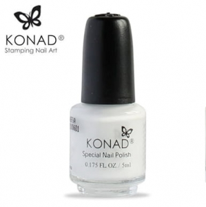 Konad lakier do stempli bialy 5ml