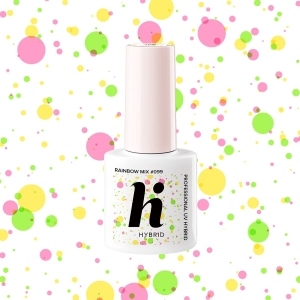 #099 hi hybrid Pop lakier hybrydowy Rainbow Mix 5ml
