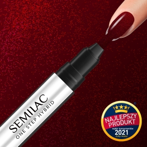 S590 SEMILAC One Step Marker GLITTER RED 3ml